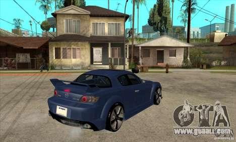 Mazda RX8 for GTA San Andreas right view
