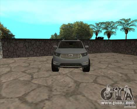 Toyota Highlander for GTA San Andreas right view