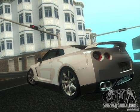 Nissan GTR R35 Spec-V 2010 Stock Wheels for GTA San Andreas wheels