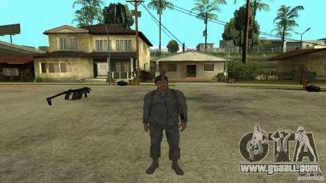 Shepard of CoD MW2 for GTA San Andreas fifth screenshot