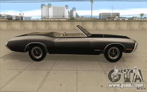 Buick Riviera GS 1969 for GTA San Andreas inner view