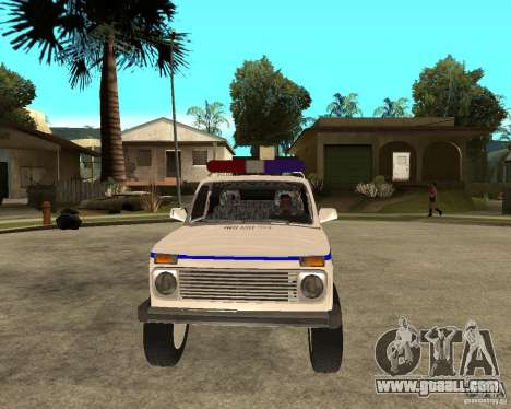 VAZ 2121 Police for GTA San Andreas back view