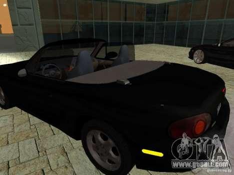 Mazda MX5 Miata for GTA San Andreas back view