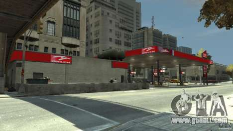New gas station for GTA 4 forth screenshot