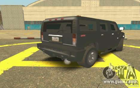 Hummer H2 Stock for GTA San Andreas right view