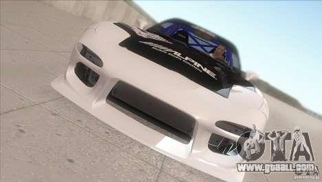 Mazda RX-7 FD K.Terej for GTA San Andreas inner view