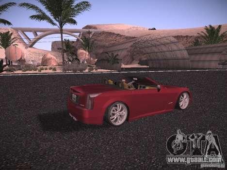 Cadillac XLR 2006 for GTA San Andreas back left view