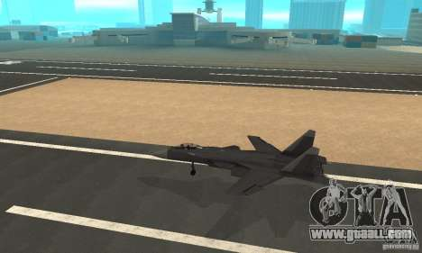 Su-47 berkut Defolt for GTA San Andreas left view