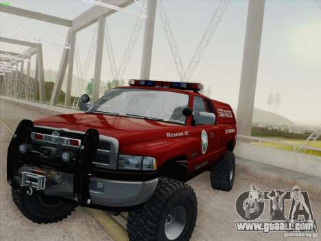 Dodge Ram 3500 Search & Rescue for GTA San Andreas interior