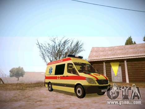 Mercedes Benz Sprinter Ambulance for GTA San Andreas back left view