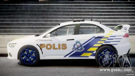 Mitsubishi Evolution X Police Car [ELS] for GTA 4 inner view