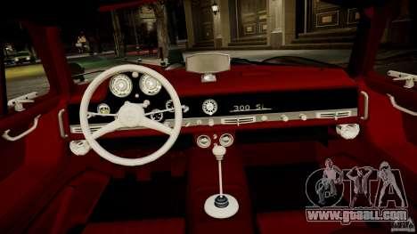 Mercedes-Benz 300 SL Gullwing for GTA 4 inner view