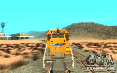 SD 40 Union Pacific Building America for GTA San Andreas left view