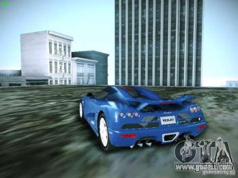 Koenigsegg CCXR Edition for GTA San Andreas left view