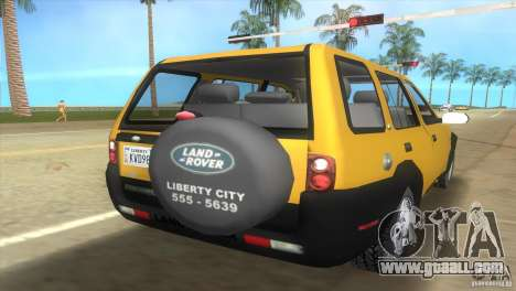 Land Rover Freelander for GTA Vice City left view