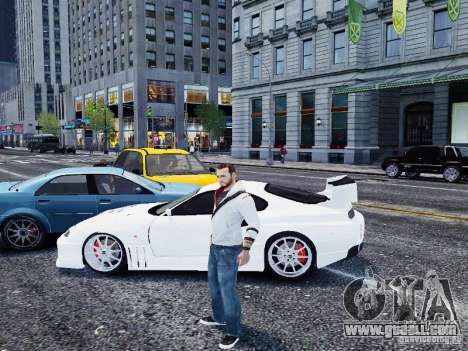 Toyota Supra Drift Setting for GTA 4 left view