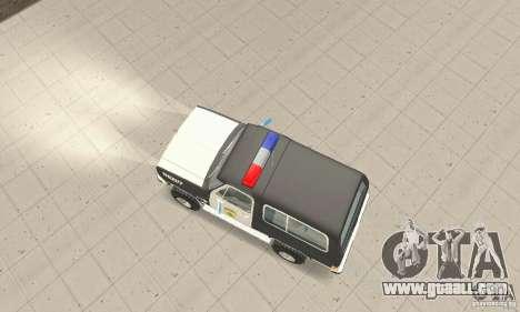 Chevrolet Blazer Sheriff Edition for GTA San Andreas right view