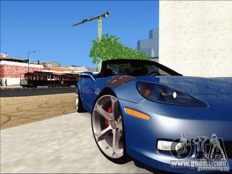 Chevrolet Corvette Grand Sport Cabrio 2010 for GTA San Andreas inner view