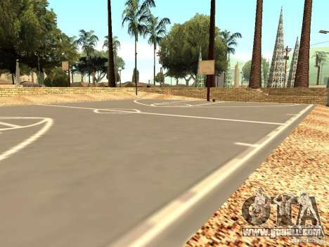 The new basketball court in Los Santos for GTA San Andreas third screenshot