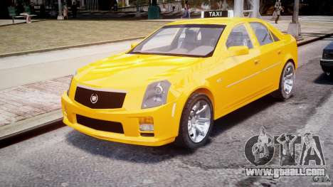 Cadillac CTS Taxi for GTA 4 back view