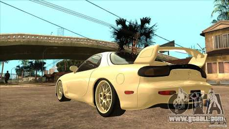 Mazda RX7 FD3S Type-R Bathurst for GTA San Andreas back left view