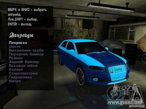 Audi S3 2006 Juiced 2 for GTA San Andreas