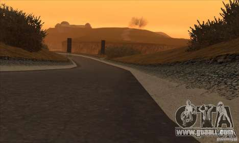 The route from NFS Prostreet for GTA San Andreas forth screenshot