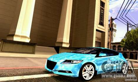 Honda CR-Z 2010 V2.0 for GTA San Andreas inner view