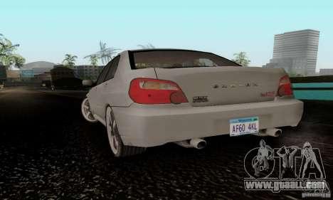 Subaru Impreza WRX STi TUNEABLE for GTA San Andreas left view