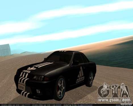 Nissan Skyline R32 GT-R + 3 vinyl for GTA San Andreas left view