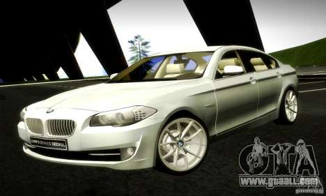 BMW 550i F10 for GTA San Andreas left view