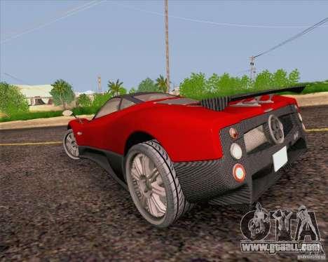 Pagani Zonda F v2 for GTA San Andreas back left view