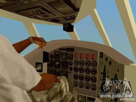B-58 Hustler for GTA San Andreas inner view