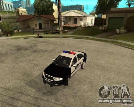 Skoda Octavia II 2005 SAPD POLICE for GTA San Andreas left view
