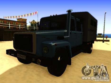 GAZ 3309 double row for GTA San Andreas back left view