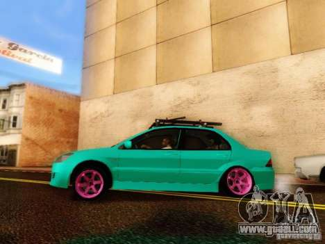 Mitsubishi Lancer for GTA San Andreas right view