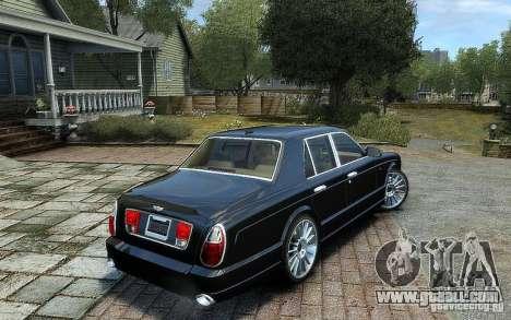 Bentley Arnage T for GTA 4 left view