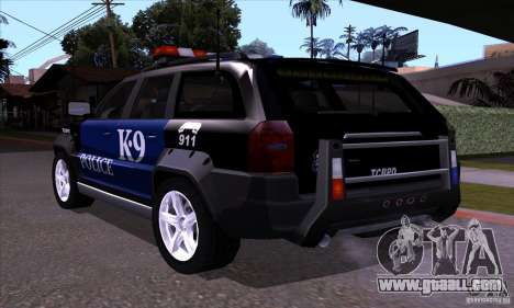 NFS Undercover Police SUV for GTA San Andreas back left view