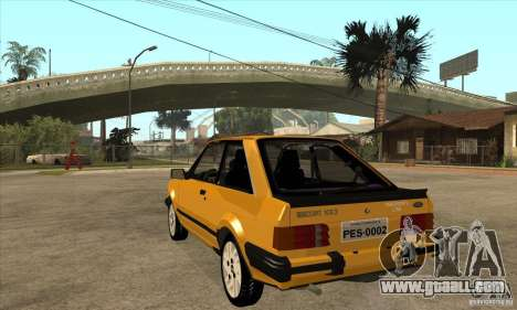 Ford Escort XR3 1986 for GTA San Andreas back left view