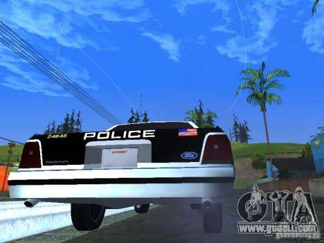 Ford Crown Victoria LTD 1992 LSPD for GTA San Andreas right view