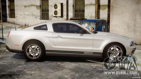 Ford Mustang V6 2010 Premium v1.0 for GTA 4 side view