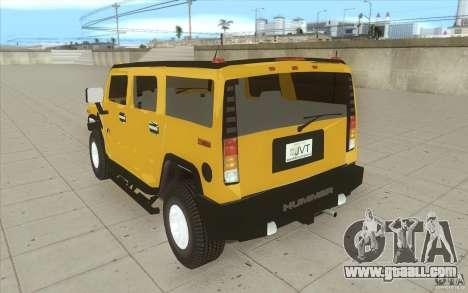 Hummer H2 for GTA San Andreas