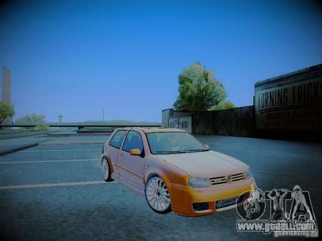 Volkswagen Golf Mk4 R32 for GTA San Andreas back view