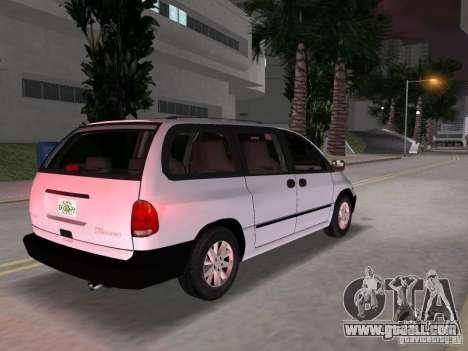 Dodge Grand Caravan for GTA Vice City back left view