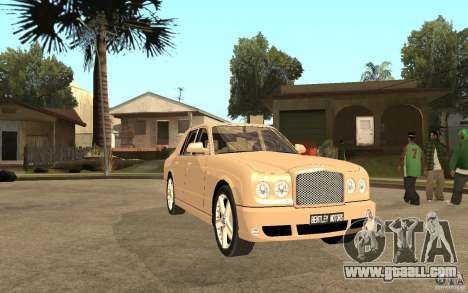 Bentley Arnage for GTA San Andreas back view