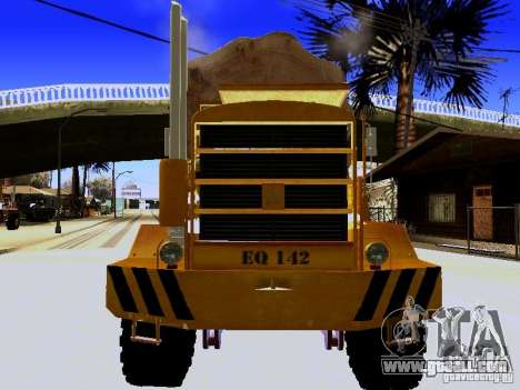 Hayes EQ 142 for GTA San Andreas inner view