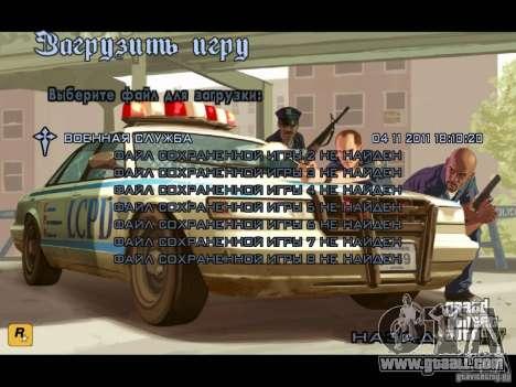 Menu like in GTA IV for GTA San Andreas forth screenshot