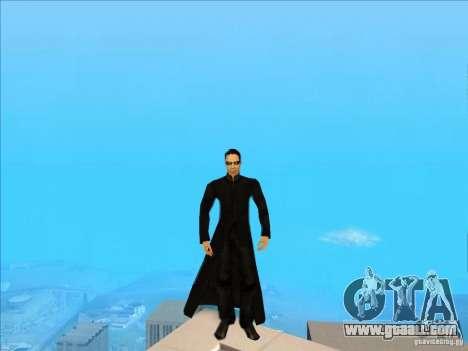 Matrix Skin Pack for GTA San Andreas