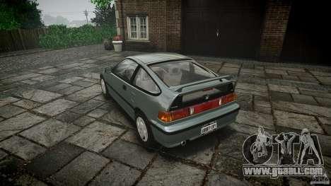 Honda CRX 1991 for GTA 4 back left view