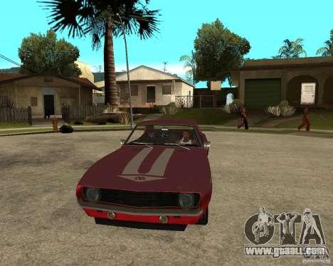 1969 Yenko Chevrolet Camaro for GTA San Andreas back view